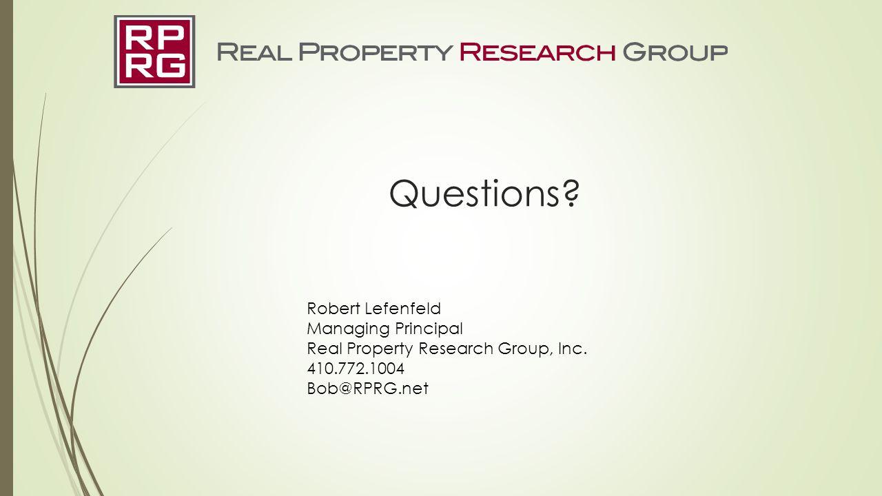 Questions Robert Lefenfeld Managing Principal
