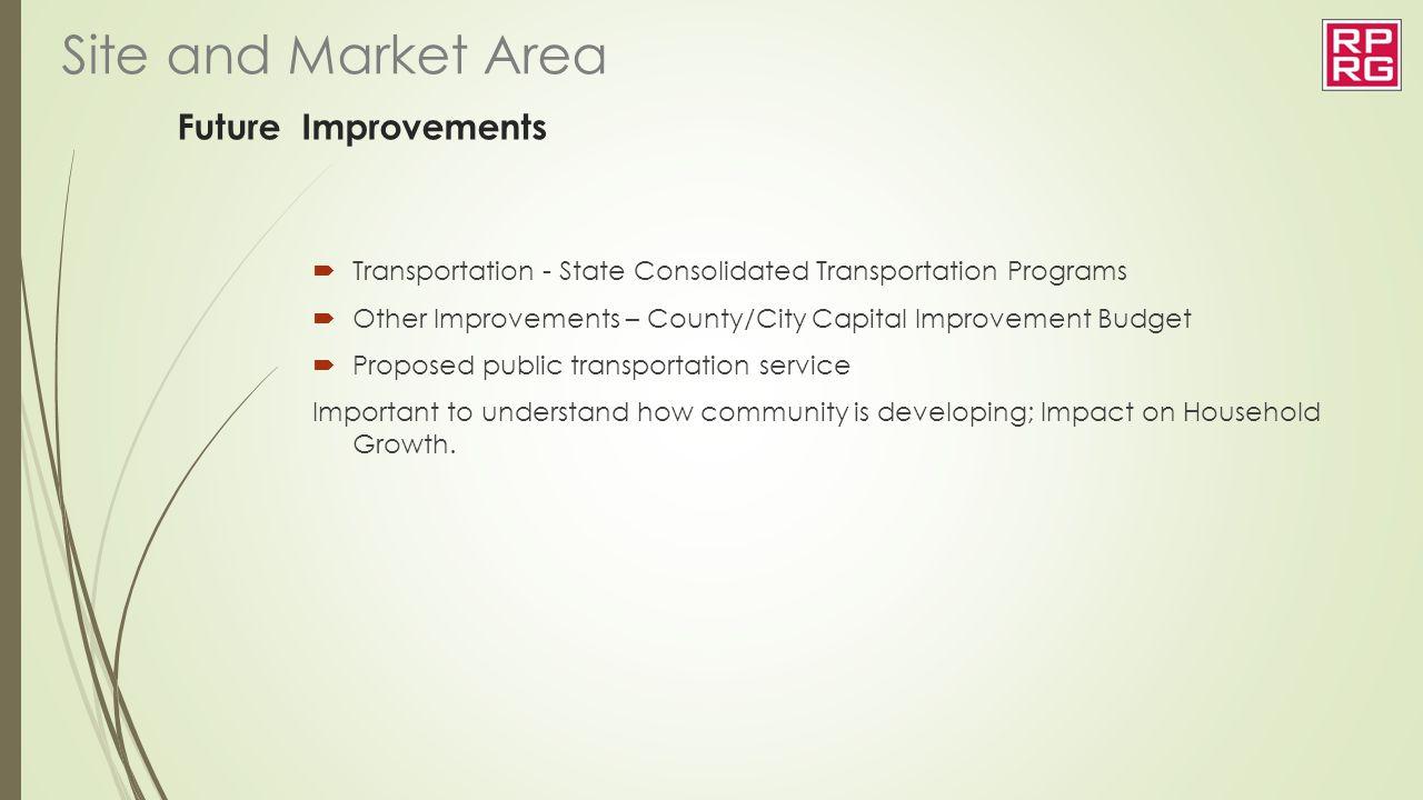Site and Market Area Future Improvements