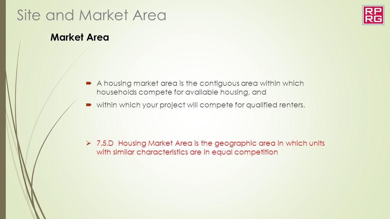 Site and Market Area Market Area