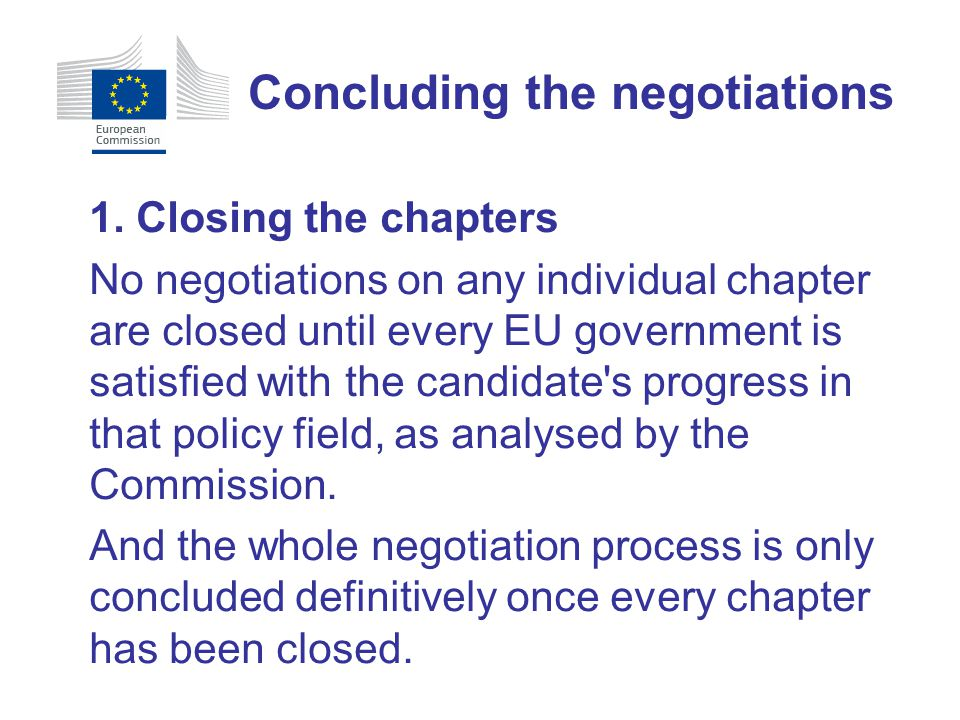 Concluding the negotiations