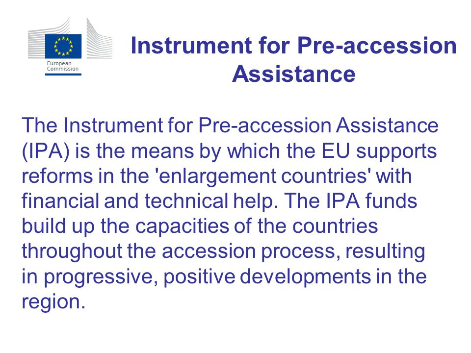 Instrument for Pre-accession Assistance
