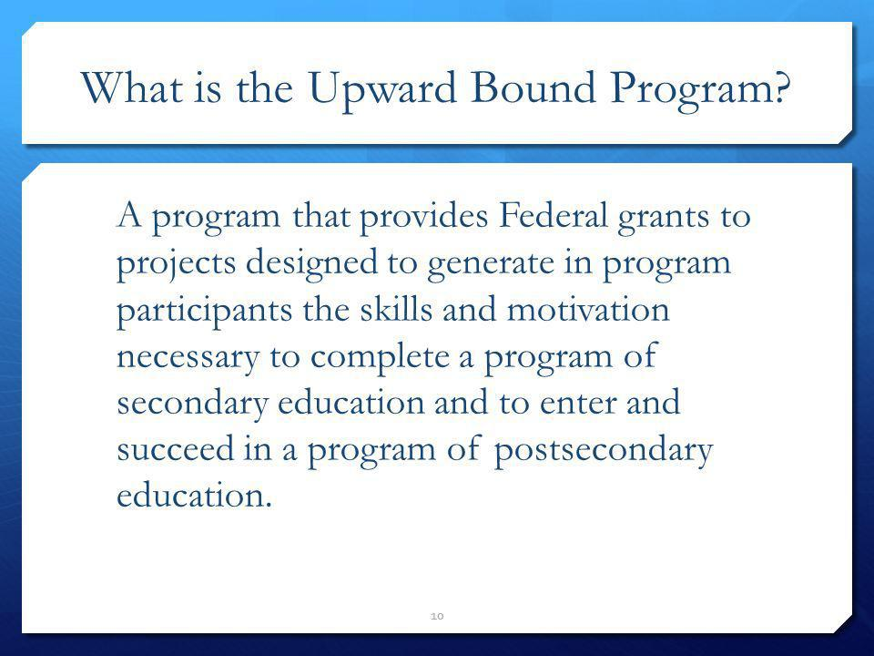 What is the Upward Bound Program
