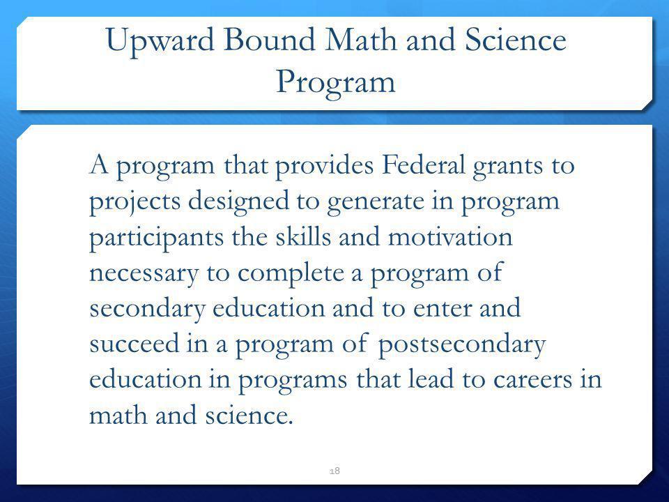 Upward Bound Math and Science Program