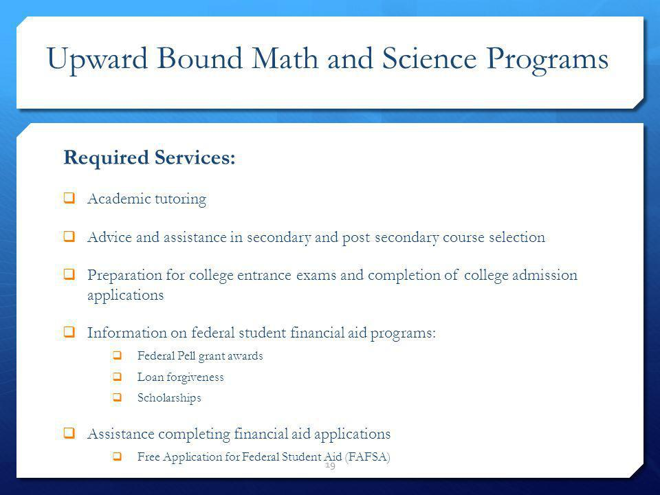 Upward Bound Math and Science Programs
