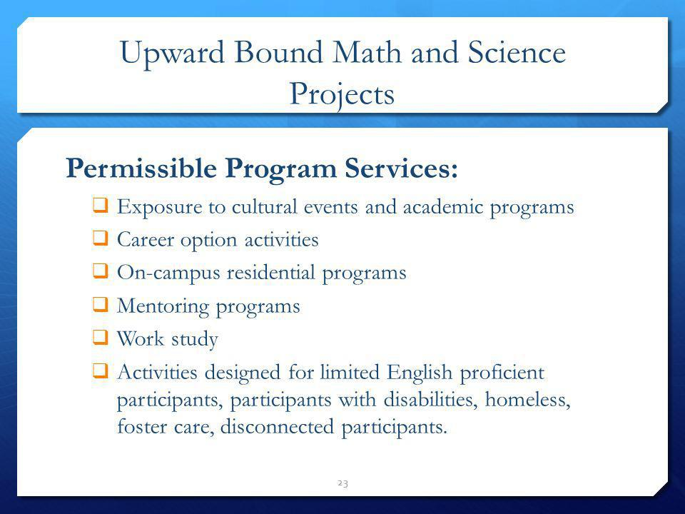 Upward Bound Math and Science Projects