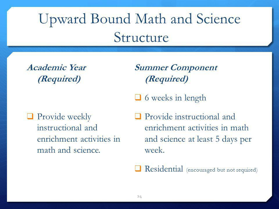 Upward Bound Math and Science Structure