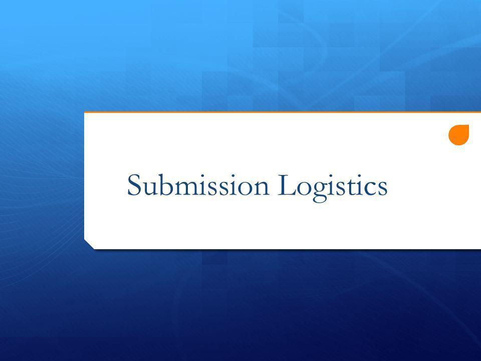 Submission Logistics