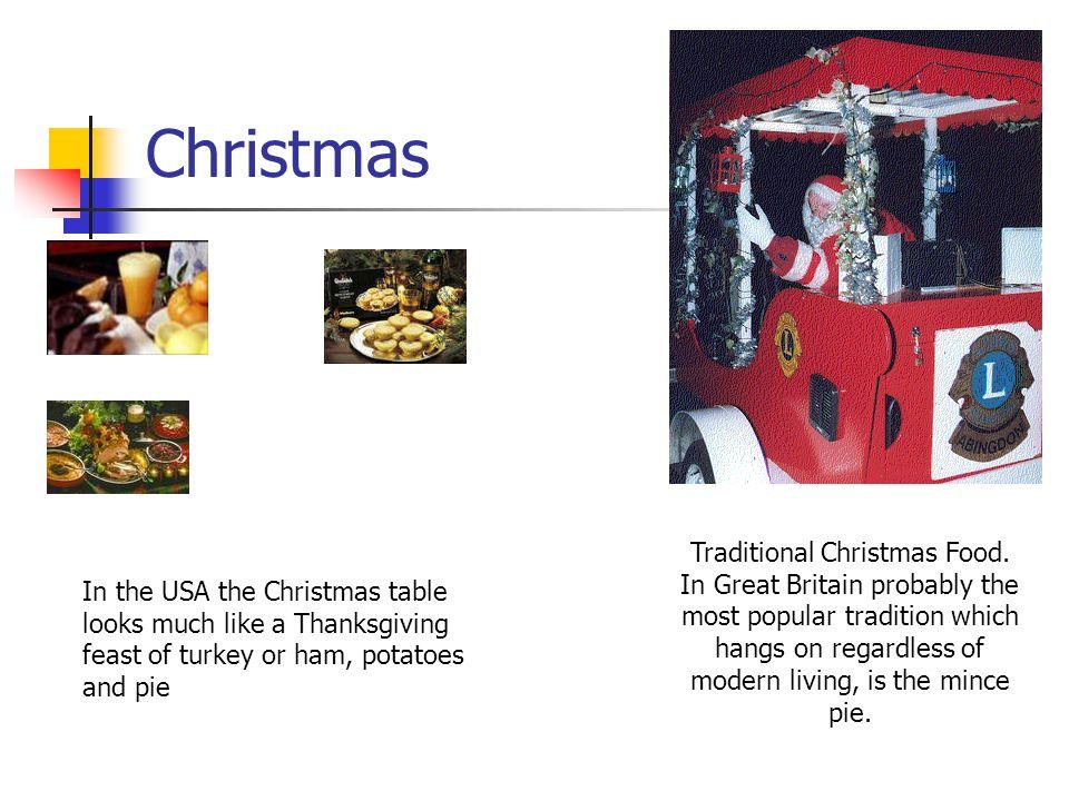 Traditional Christmas Food.