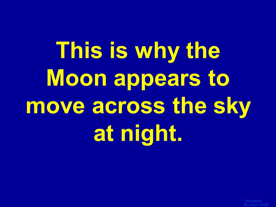 This is why the Moon appears to move across the sky at night.