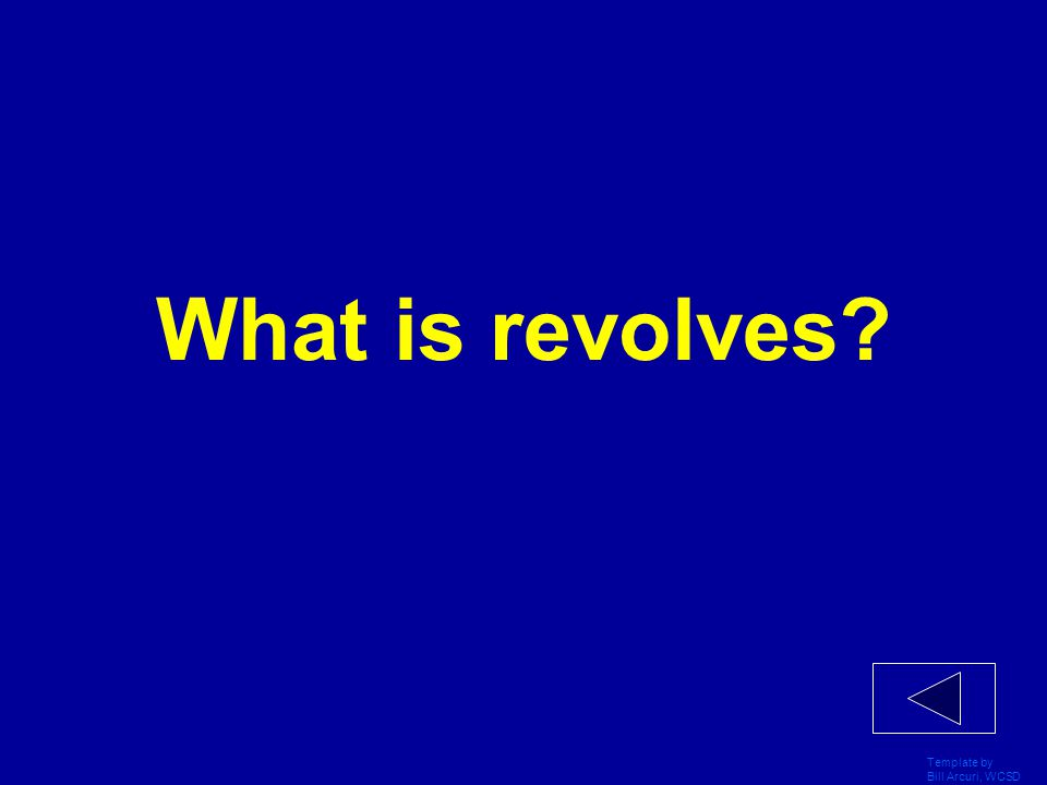 What is revolves Template by Bill Arcuri, WCSD