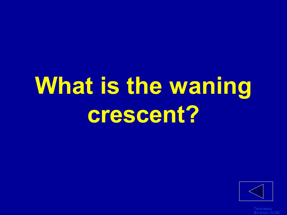 What is the waning crescent