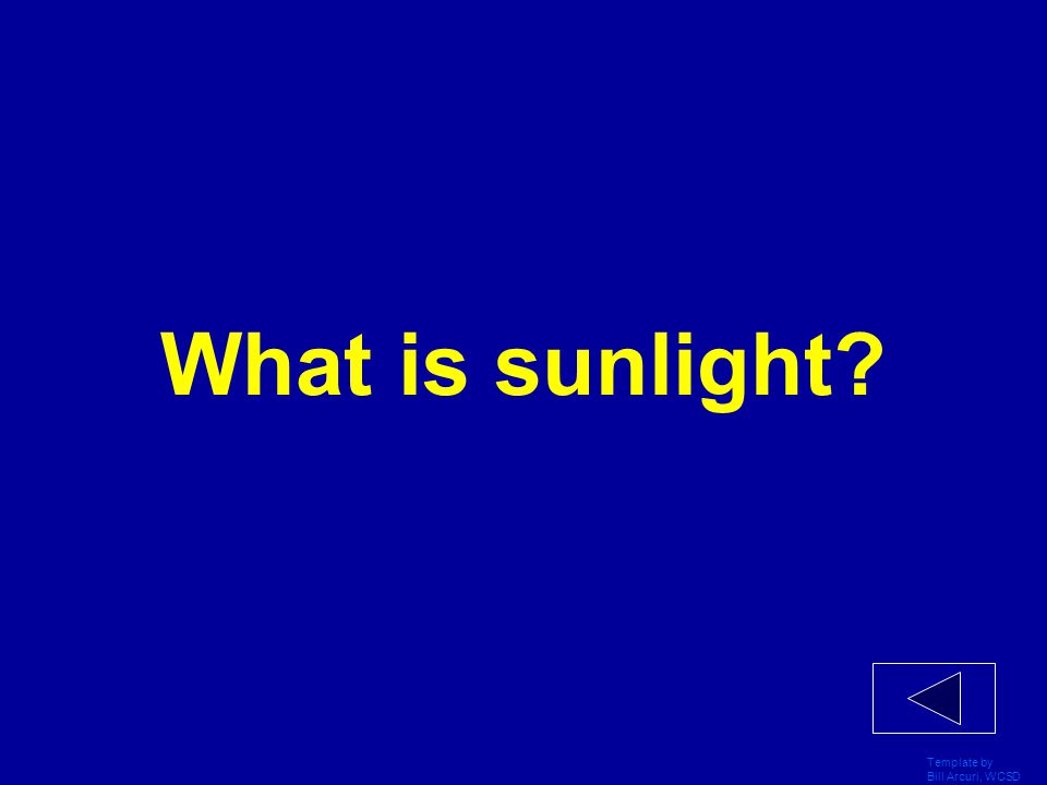 What is sunlight Template by Bill Arcuri, WCSD