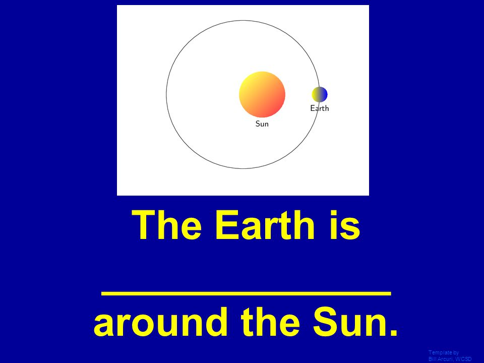 The Earth is _____________ around the Sun.