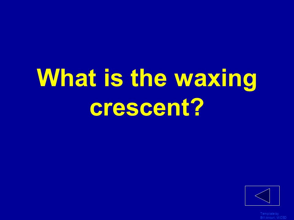 What is the waxing crescent