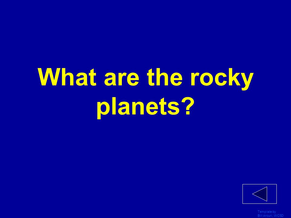 What are the rocky planets