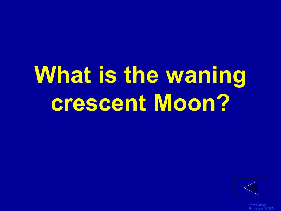 What is the waning crescent Moon
