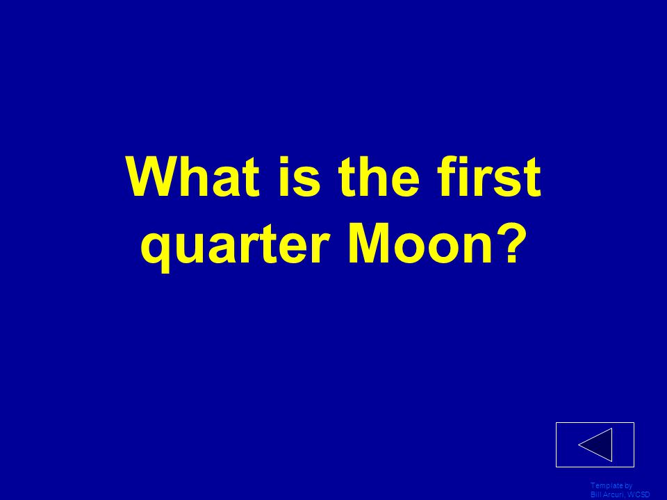 What is the first quarter Moon