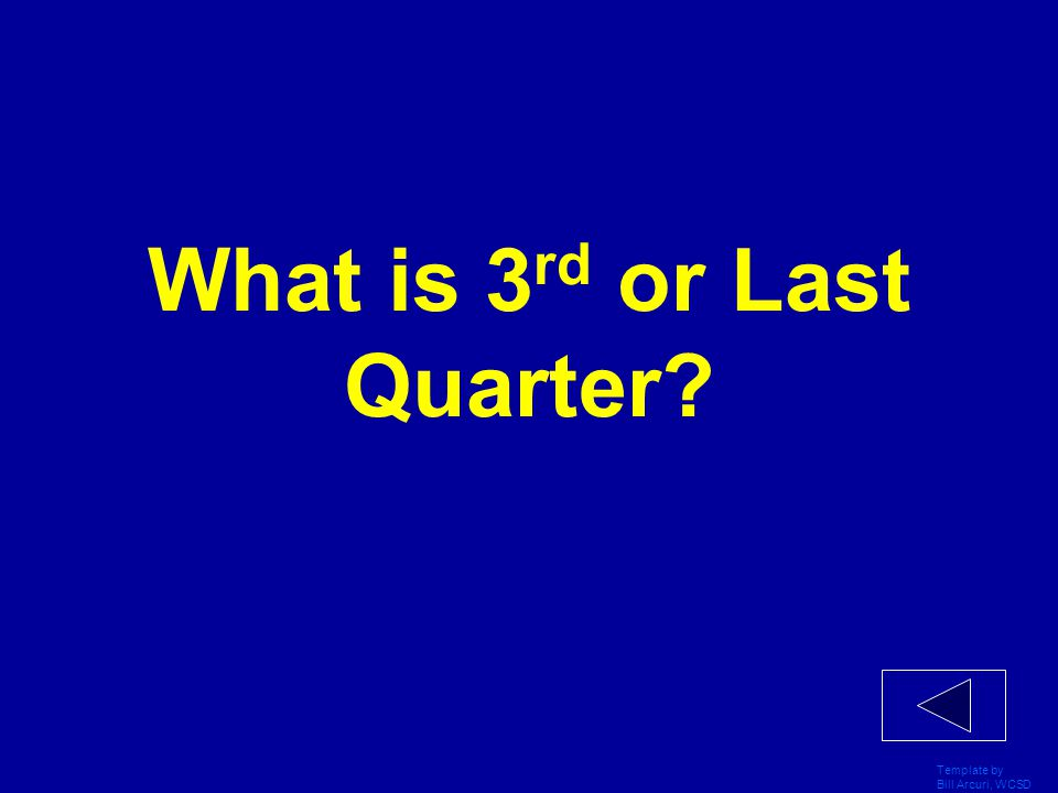 What is 3rd or Last Quarter