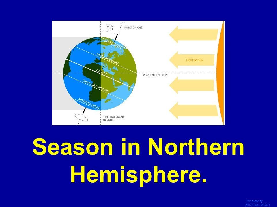 Season in Northern Hemisphere.