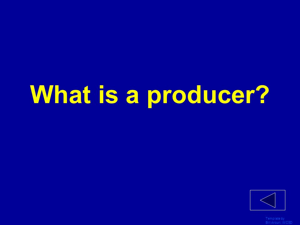 What is a producer Template by Bill Arcuri, WCSD