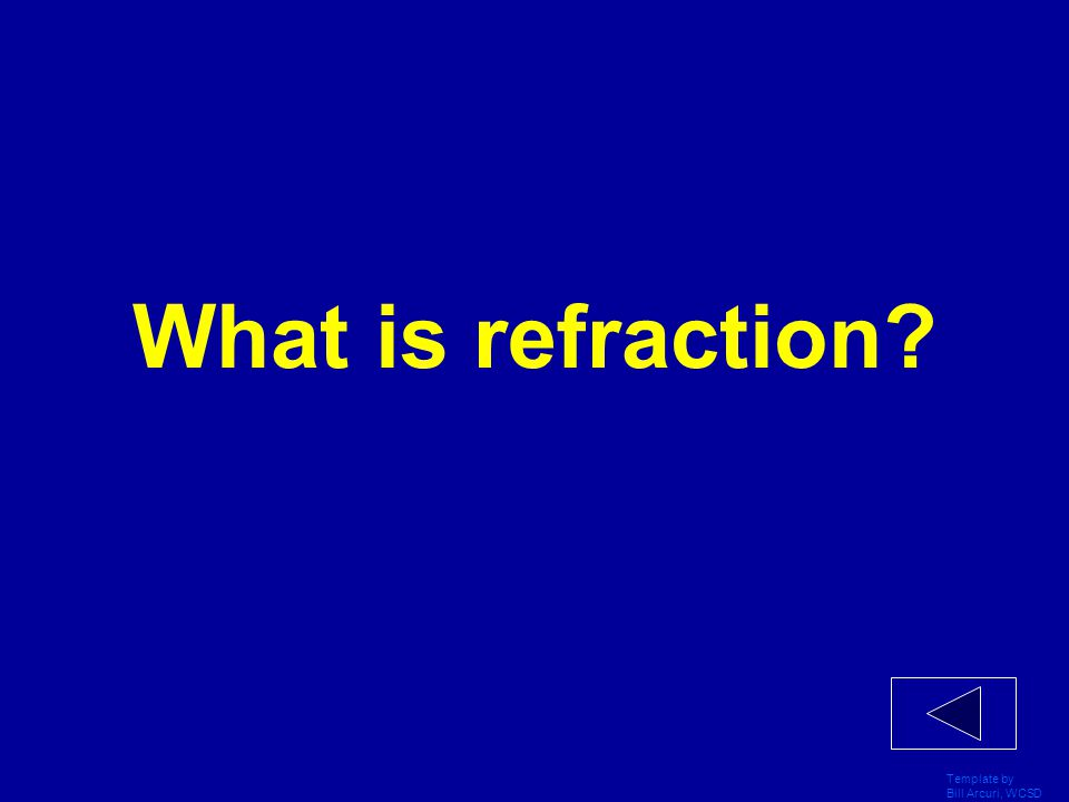 What is refraction Template by Bill Arcuri, WCSD