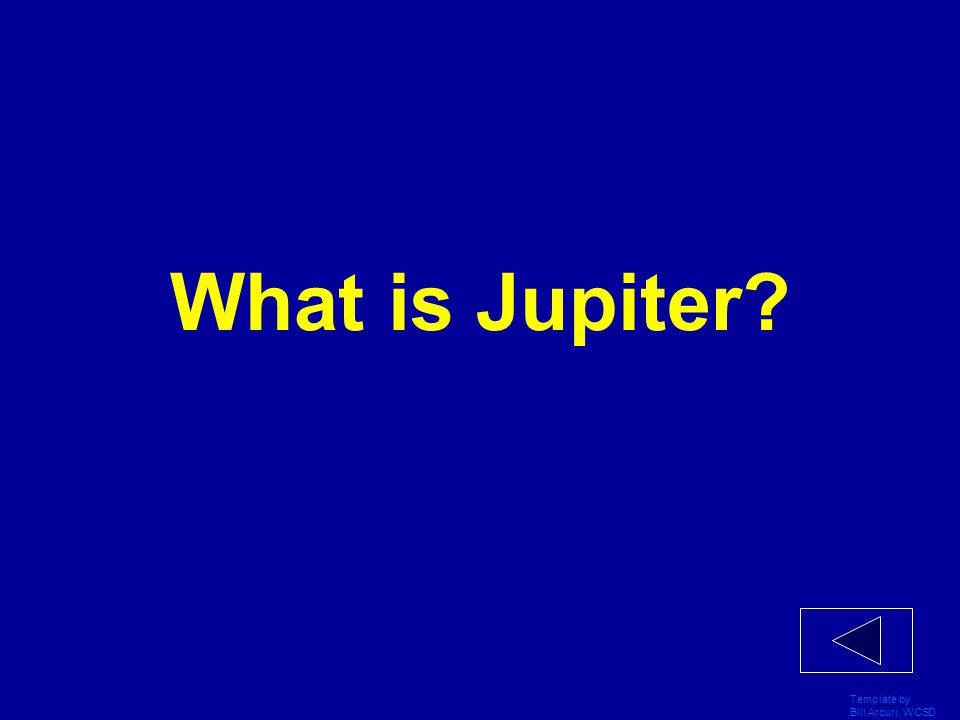 What is Jupiter Template by Bill Arcuri, WCSD