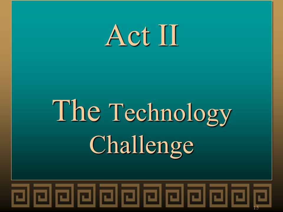 Act II The Technology Challenge