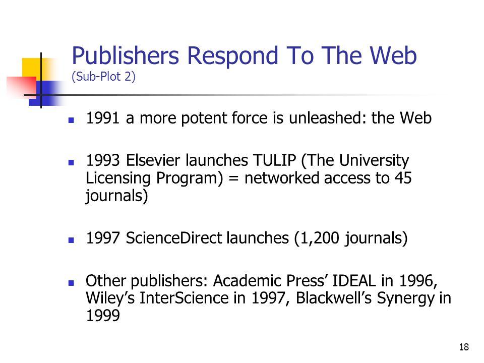 Publishers Respond To The Web (Sub-Plot 2)