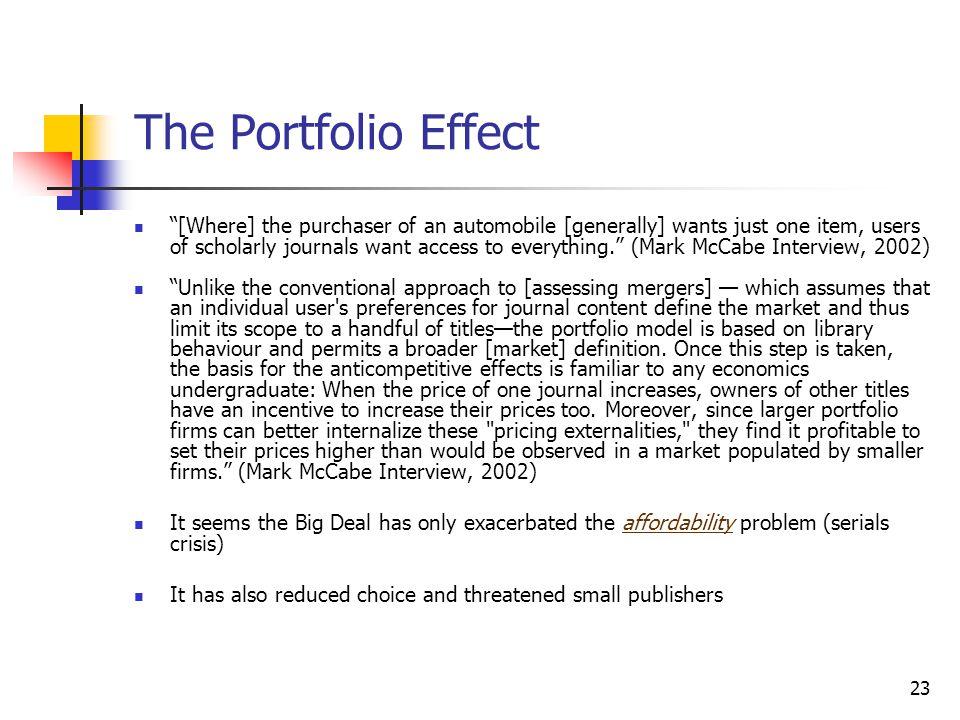 The Portfolio Effect