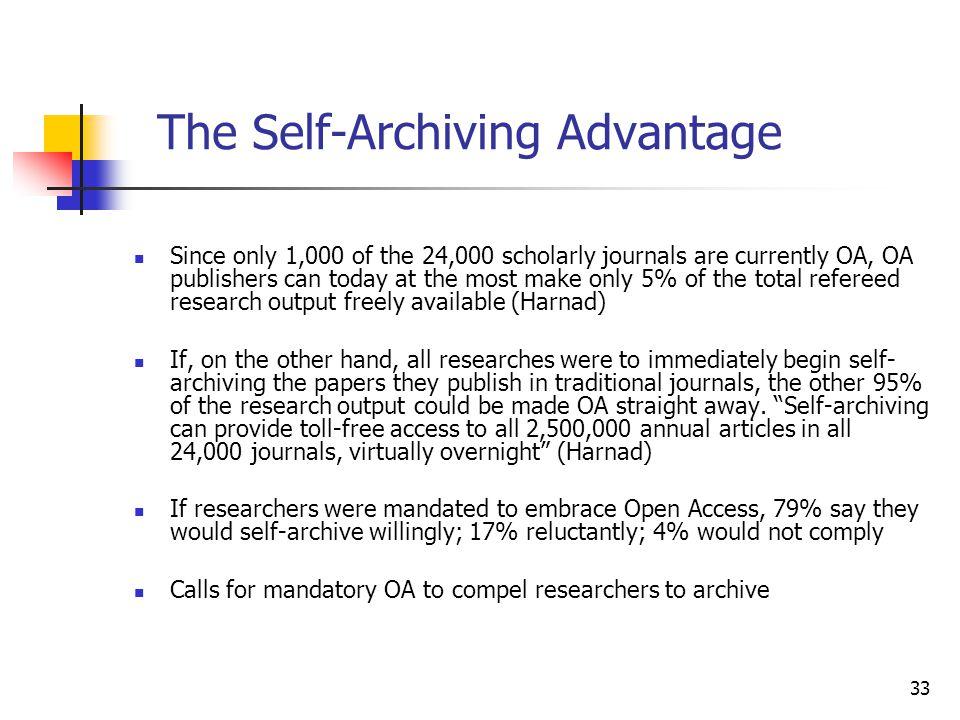 The Self-Archiving Advantage