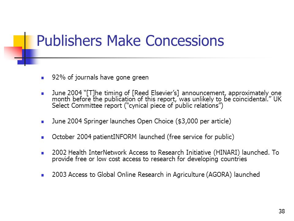 Publishers Make Concessions