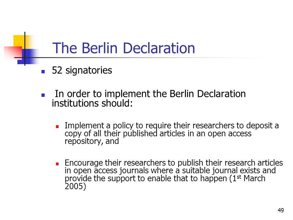 The Berlin Declaration