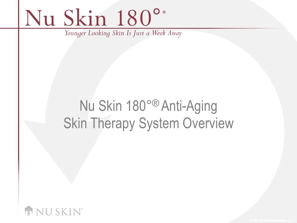 Nu Skin 180°® Anti-Aging Skin Therapy System Overview