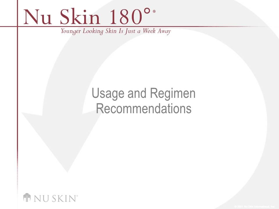 Usage and Regimen Recommendations