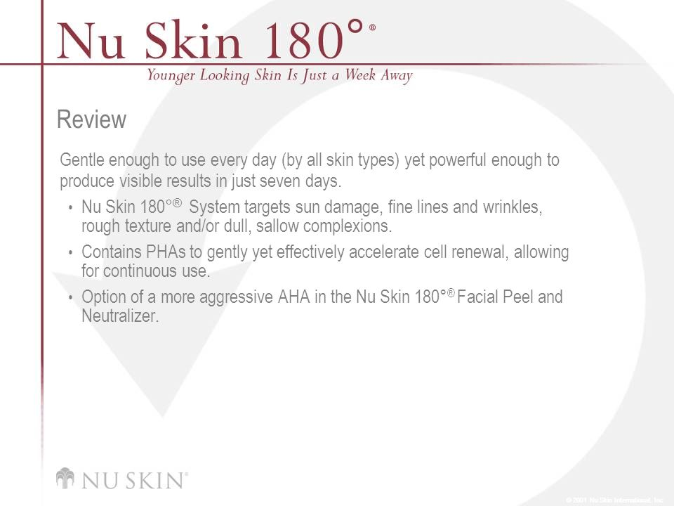 Review Gentle enough to use every day (by all skin types) yet powerful enough to produce visible results in just seven days.