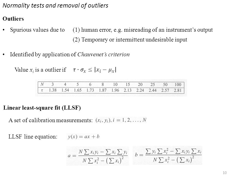 Normality tests and removal of outliers