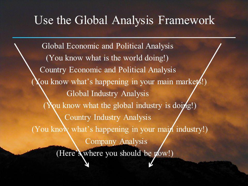 Use the Global Analysis Framework