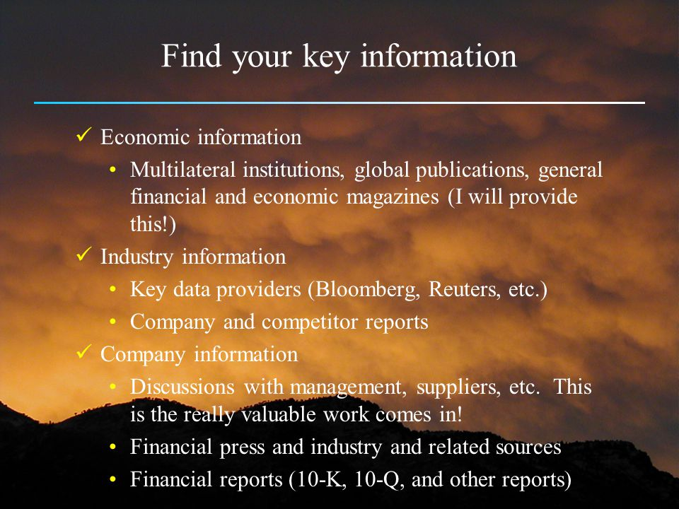 Find your key information