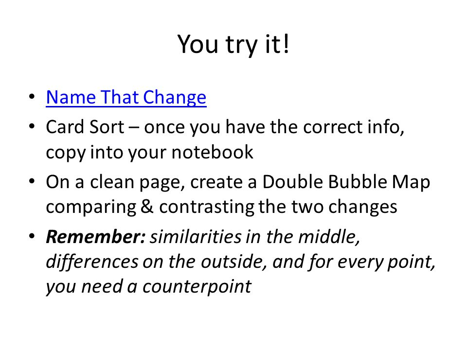 You try it! Name That Change