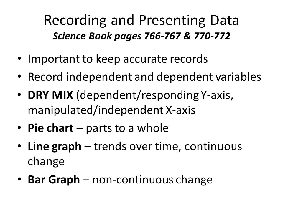 Recording and Presenting Data Science Book pages 766-767 & 770-772
