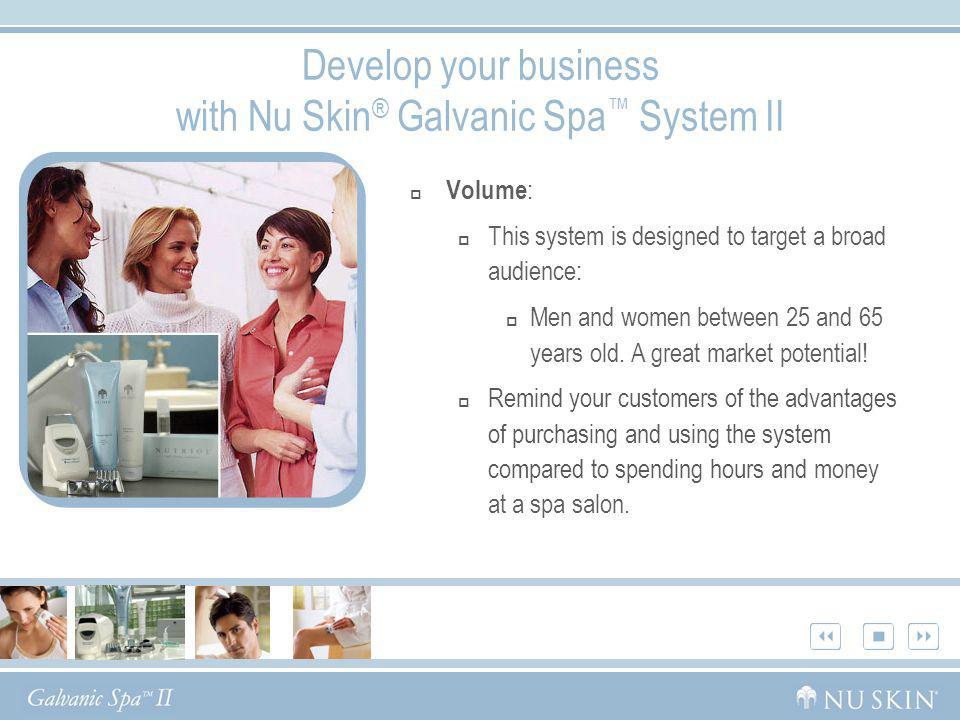 Develop your business with Nu Skin® Galvanic Spa™ System II