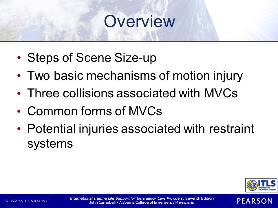 Overview Assessment criteria and anticipated injuries from falls