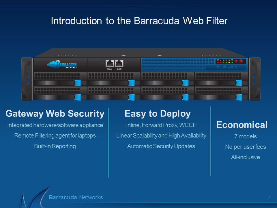 Introduction to the Barracuda Web Filter
