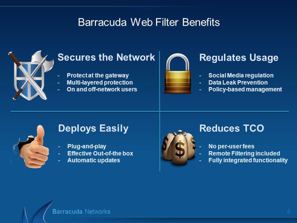 Barracuda Web Filter Benefits