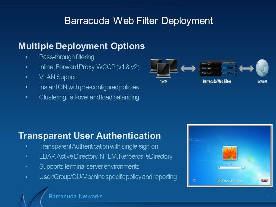 Barracuda Web Filter Deployment