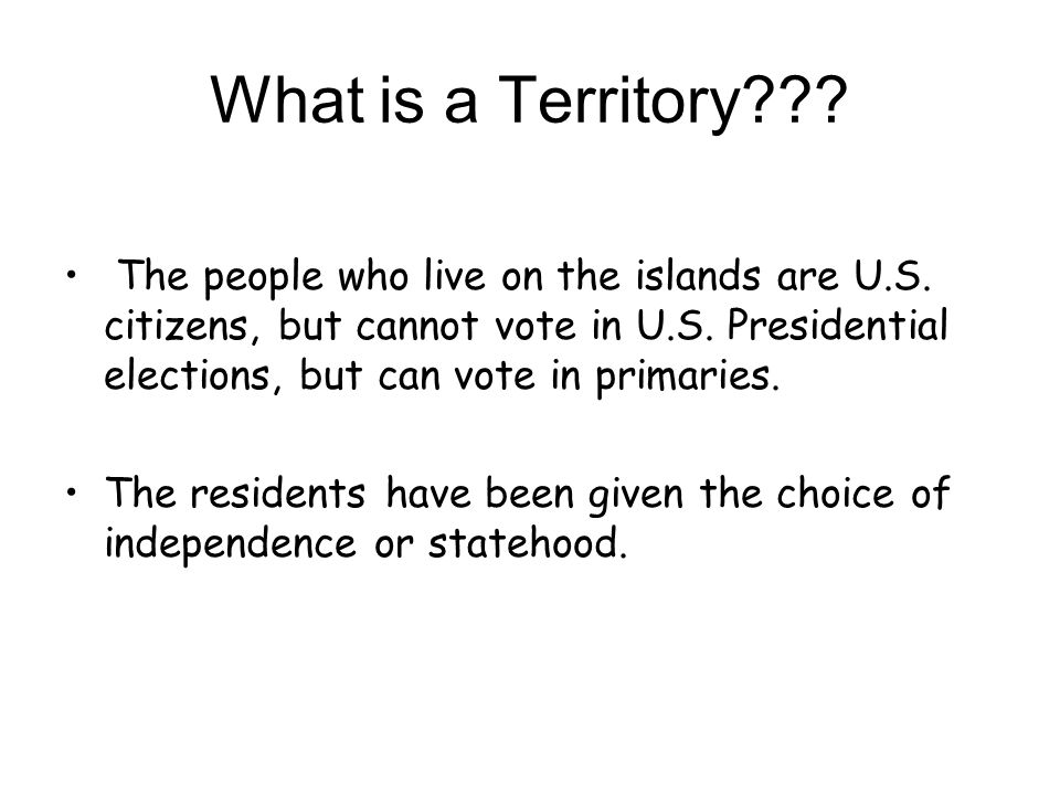 What is a Territory