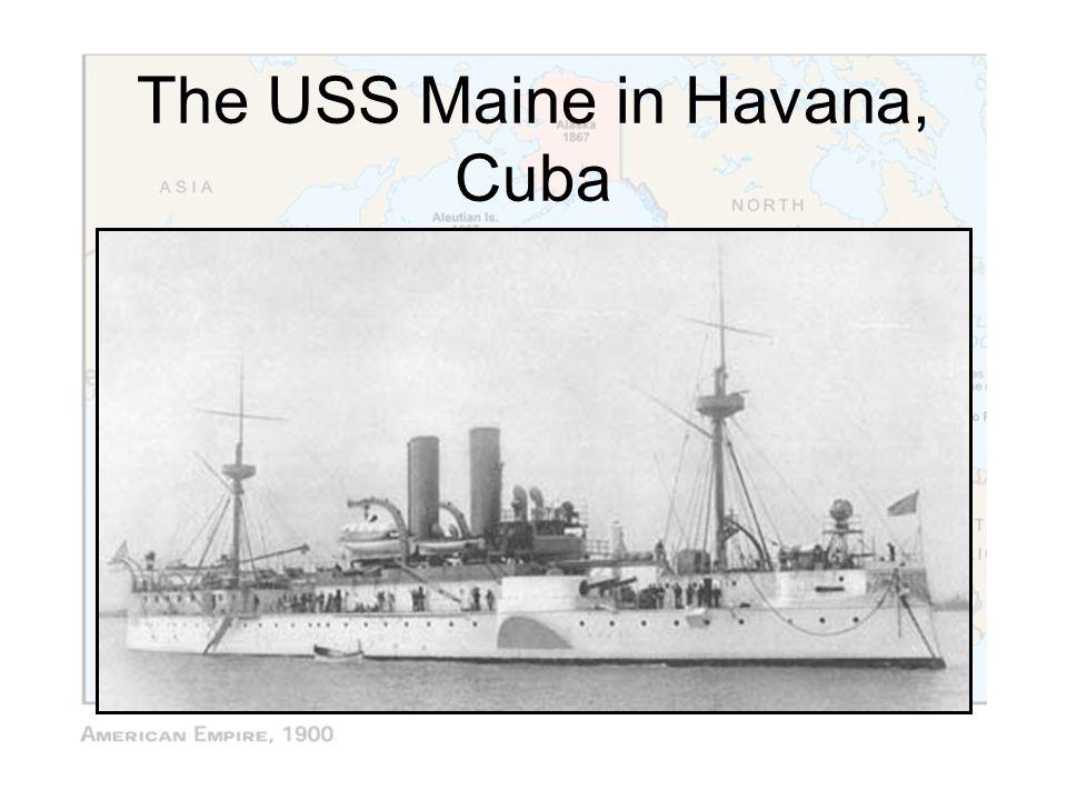 The USS Maine in Havana, Cuba