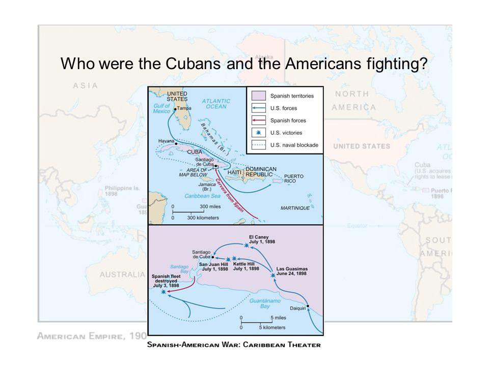 Who were the Cubans and the Americans fighting