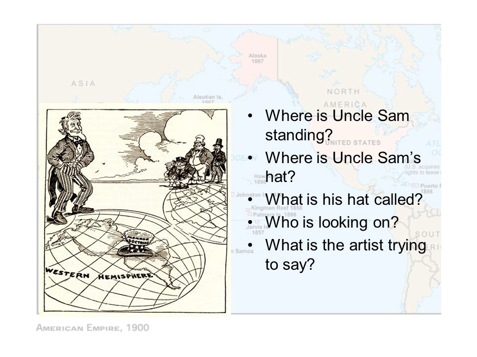 Where is Uncle Sam standing