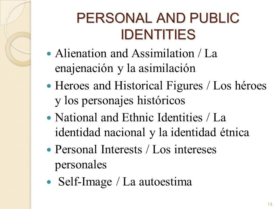 PERSONAL AND PUBLIC IDENTITIES